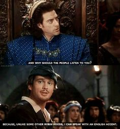 Robin Hood Men in Tights...funny thing is they wanted him to play Robin Hood in The Robin Hood Prince of Thieves movie but he refused because he thought the plot was too contrived