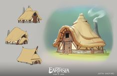 Unofficial (personal project) development art for A Wizard of Earthsea, Ursula LeGuin's classic fantasy novel series.