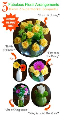 Great simple (and cheap) flower ideas. #AlexiaSimplySpring