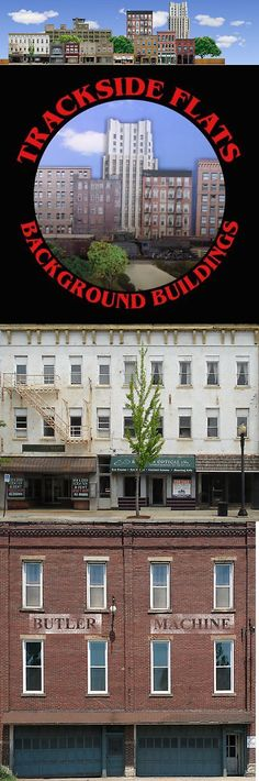 #327 **NEW** O scale background building flat CONTINENTAL BAKING *FREE SHIPPING*