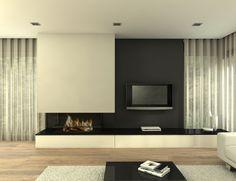 Chimenea Moderna Detroit Living Room Decor Fireplace, Home Fireplace, Modern Fireplace, Fireplace Design, Luxury Bedroom Design, Home Room Design, Interior Design Living Room, Living Room Designs, House Design