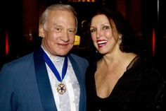 Buzz Aldrin and Pat Kerr Tigrett at the awards ceremony for Buzz in Memphis