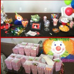 Carnival Themed Birthday Party - Take Home Party Favors & Candy Bar
