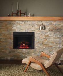 retro inspired fireplace