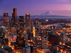 Seattle & Rainier by Dan Ransom, via 500px