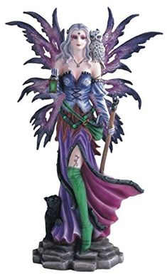 StealStreet SS-G-91410 Fairy with Cat and Owl Collectible Figurine, Purple *** Want additional info? Click on the image. (This is an affiliate link) #NaturalHomeDecor