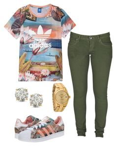 """Untitled #60"" by missballa ❤ liked on Polyvore featuring moda, adidas, Dr. Denim, adidas Originals, Rolex y Auriya"