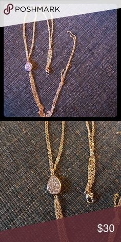 Sonya Ren?e necklaces drysty silver stone w/ tasse New and authentic gold tone Sonya Ren?e Jewelry Necklaces