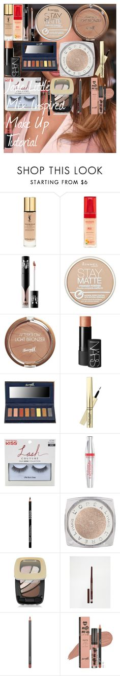 """""""Jade Little Mix Inspired Make Up Tutorial"""" by oroartyellie on Polyvore featuring beauty, Yves Saint Laurent, Bourjois, Kat Von D, Rimmel, Barry M, NARS Cosmetics, L'Oréal Paris and MAC Cosmetics"""