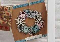 How to Make a Snowflake Wreath Christmas Card #christmas #cardmaking