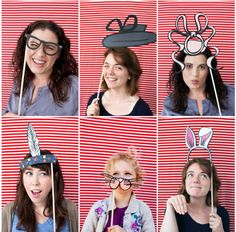Printable Photo Booth Props ~ Photo Booth props are perfect for fun entertainment for a party full of adults.  Set up a make shift photo booth and print out a set of these photo booth props.  Guest will be acting like kids as they dress up to take pictures during the celebration.