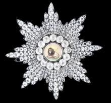 A paste-set silver and enamel Breast Star of the Qajar Order of the Lion and Sun probably Russian, circa 1860 Islamic and Indian Art