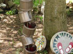 Patricia L Johnson Glass Art: Upcyclers Creativity Challenge for May. DIY Birdbath Planter.