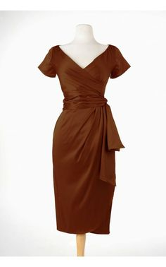 Ava Dress in Chocolate Brown - Dresses - Clothing | Pinup Girl Clothing