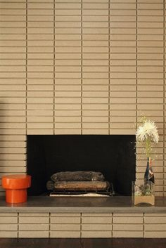 1000 images about mid century modern fireplaces on - How to make a brick fireplace look modern ...