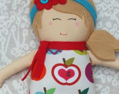 Heart Felts Doll Soft Doll Handmade Doll Rag Doll (Free Shipping In the U.S.)