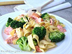 Těstoviny s lososem Pasta Salad, Potato Salad, Potatoes, Treats, Fit, Ethnic Recipes, Tagliatelle, Crab Pasta Salad, Sweet Like Candy