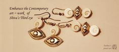Shiva's third eye! To view the earrings at https://www.facebook.com/tushnajewelart