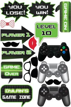 New fortnite birthday games ideas Ideas Birthday Party Games, 10th Birthday, Game Themes, Party Themes, Xbox Party, Video Game Party, Video Games, Photo Booth Props, Photo Booths