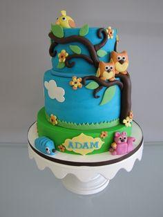 woodland cake decorating ideas | Woodland Theme Baby Shower Cake