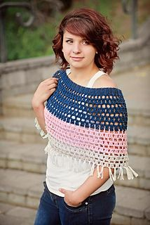 95 best crochet ponchos images on pinterest crochet shawl craft halles capelet by salena baca fandeluxe Image collections