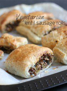Vegetarian lentil sausage rolls   Amuse your bouche