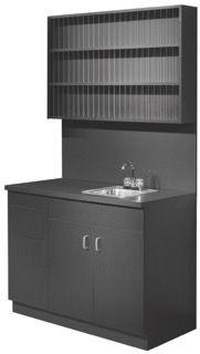 Kaemark Color Bar with Sink and Upper Color Storage