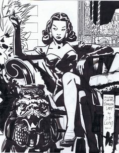 The Dragon Lady from Milton Caniff's Terry and the Pirates by John Paul Leon, 2011.