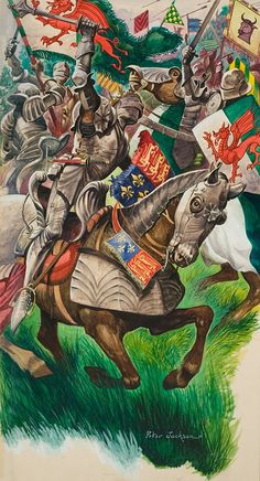 Richard III at the Battle of Bosworth (Original) (Signed) art by Peter Jackson at The Illustration Art Gallery