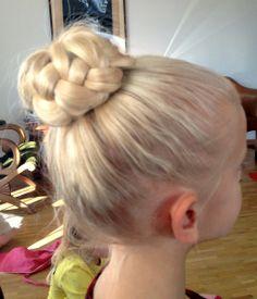 french braid bun for ballet #french_braid_bun