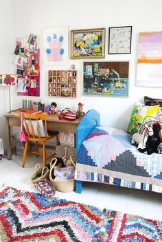 well-cluttered kids room