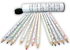 Musical Coloured Pencils – Keyboard Pencils in Tin   musical gifts online