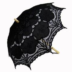 Parasols of Battenburg Lace, Black - Parasol Umbrellas, Sun Shade Umbrellas, Black Parasols - Umbrellas.net Seattle
