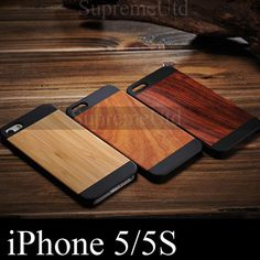 High Quality Unique Wood Bamboo Style Back Case For iPhone 5 5S Ultra Thin Cover