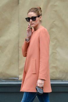 Olivia Palermo, love her Zara coat!!