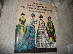 Vintage Victorian Fashion Paper Dolls From Harpers Bazar 1867-1898 70's by FabulousFinds1 on Etsy