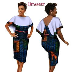 BintaRealWax New Style 2017 African Dresses for Women African Print Traditional Clothing Knee-length Dress Plus Size Short African Dresses, Latest African Fashion Dresses, African Men Fashion, Africa Fashion, African Clothes, Couples African Outfits, African Attire, Afro, Ankara Styles For Women