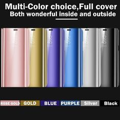 Purple Gold, Blue And Silver, Rose Gold, Samsung, Cover