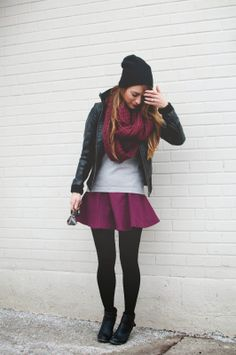 Oxblood and black leather - Transition between winter and spring
