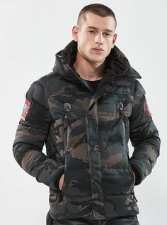 Military Tactical Camouflage Jacket Jacket US Army Navy Thermal Outwear Thick Padded Jacket With Hood Military Style Parkas - 2 Camo Colors Men's Coats And Jackets, Winter Jackets, Bomber Jackets, Mode Costume, Tactical Jacket, Camo Colors, Camouflage Jacket, Winter Parka, Military Style Jackets
