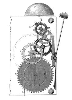 3 Vintage Images - Steampunk Gears - Graphics Fairy