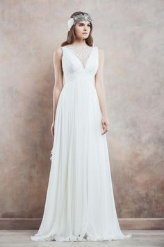 Today's utterly divine gowns, inspired by the romance of a sun-drenched Tuscan landscape, come courtesy of the aptly named Divine Atelier, a Romanian White Wedding Gowns, Wedding Dresses 2014, Wedding Attire, Bridal Dresses, Bridesmaid Dresses, Romanian Wedding, Divine Atelier, Ceremony Dresses, Wedding Ceremony
