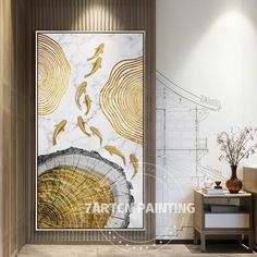 Gold abstract canvas painting gold line fish Installation art acrylic canvas painting large painting framed wall art cuadros abstractos Koi Painting, Large Painting, Painting Frames, Acrylic Canvas, Abstract Canvas, Diy Canvas, Canvas Art, Fish Wall Art, Framed Wall Art