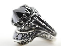 Endless Night Ring. Part I. – Blood Milk Jewels - I love this pile up. Oh @BloodMilkJewels how perfect.