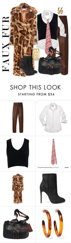 """""""his style her way"""" by daincyng ❤ liked on Polyvore featuring Federica Tosi, Sans Souci, Schutz, Dinosaur Designs, Nine West and fauxfurcoats"""
