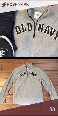 Gray 1/4 Zip Fleece Super comfy! I'm a wm's medium and this fits well! Old Navy Tops Sweatshirts & Hoodies