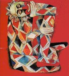 clown or Jesture Filipino Art, Chalk Pastels, Cubism, Various Artists, Artist Art, Figurative Art, 4th Of July Wreath, Art Images, Abstract Art