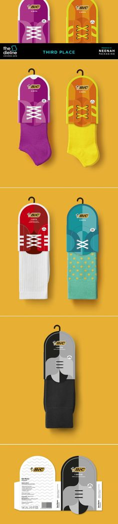 The Dieline Awards 2016: BIC socks- mousegraphics — The Dieline | Packaging & Branding Design & Innovation News
