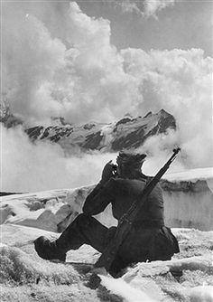 Mountain Division of the German Wehrmacht; mountain infantry at Caucasus; observation point on Choyu-Tau-Pass - pin by Paolo Marzioli