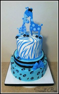 Turquoise Giraffe Baby Shower I want this if I ever end up having kids more specifically a boy